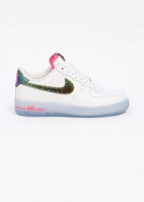 Nike Quickstrike QS Air Force 1 Comfort 'Hyper Punch' Trainers - White / Metallic Gold