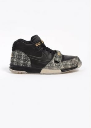 Nike Quickstrike Air Trainer 1 Mid PRM QS 'Paid In Full' Trainers - Black / Metallic Gold / Vapour Green