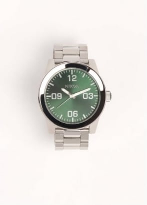 Nixon Mens Corporal SS Watch - Green Sunray
