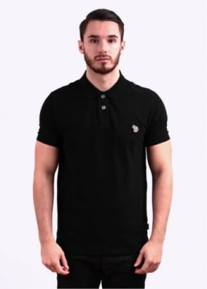 Paul Smith Jeans Short Sleeve Zebra Polo Shirt - Black