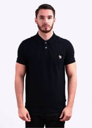 Paul Smith Jeans Short Sleeve Zebra Polo Shirt - Navy