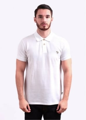 Paul Smith Jeans Short Sleeve Zebra Polo Shirt - White