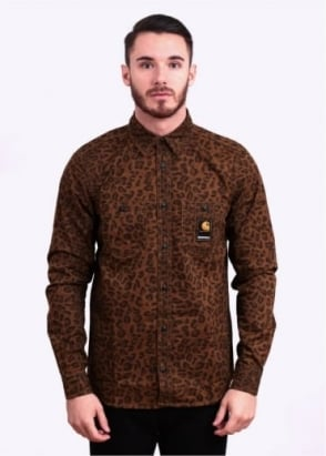 Carhartt Long Sleeve Tracy Shirt - Brown Leopard