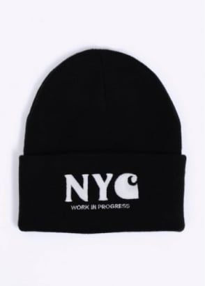 Carhartt NYC Beanie Hat - Black / White