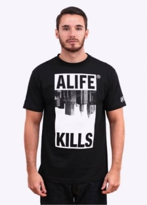 Alife Harry McNally Skyline Tee - Black