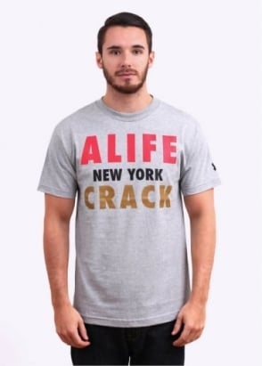 Alife NY Crack Tee - Heather Grey