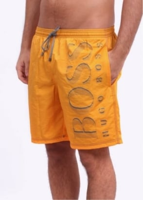 Hugo Boss Black Killfish Shorts - Medium Yellow