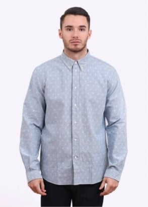 Paul Smith Long Sleeve Lightning Bolt Shirt - Light Blue