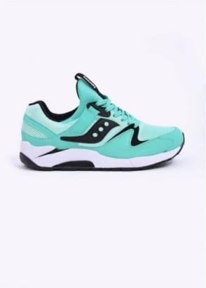 Saucony Grid 9000 Trainers - Mint / Black
