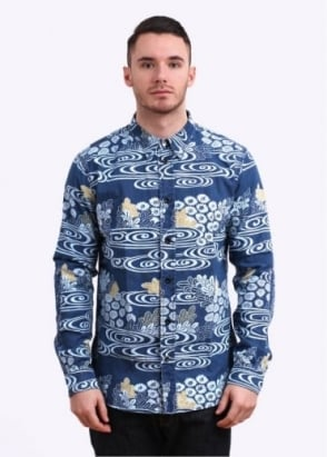 Paul Smith Indigo Kimono River Shirt - Blue