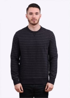 Levi's Red Tab Stripe Crew Sweatshirt - Black