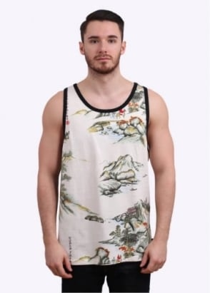 Stussy China World Tribe Tank Vest - Natural