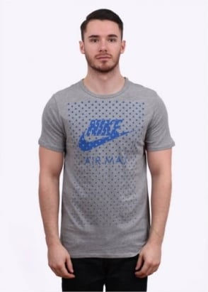 Nike Apparel Air Max Fill Tee - Dark Grey / Blue