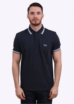 Hugo Boss Green Paddy Polo Shirt - Navy