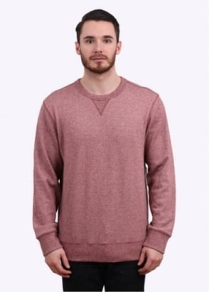 Obey Clayton Crew Sweater - Heather Burgundy