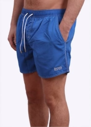 Hugo Boss Black Lobster Swim Shorts - Bright Blue