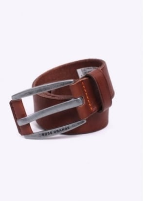 Hugo Boss Accessories / Boss Orange - Bakaba N Leather Belt - Medium Brown