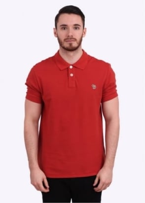 Paul Smith Jeans Short Sleeve Zebra Polo Shirt - Red