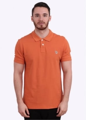 Paul Smith Jeans Short Sleeve Zebra Polo Shirt - Orange