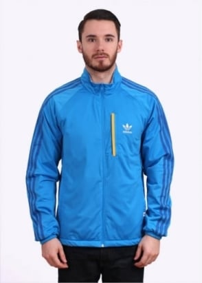 Adidas Originals Apparel Reversible Windbreaker - Bright Blue