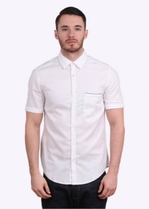 Hugo Boss Green Byolo SS Shirt - White