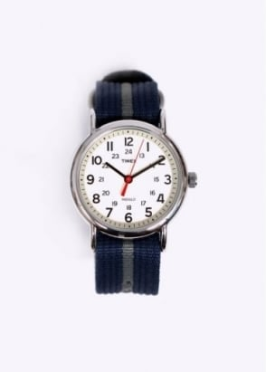 Timex Weekender Slip Thru Watch - Blue / Grey