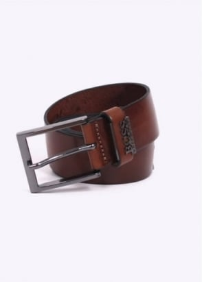Hugo Boss Accessories / Boss Black - Senol Leather Belt - Medium Brown