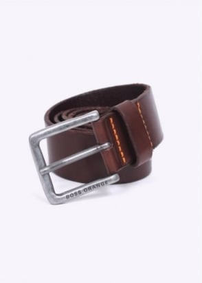 Hugo Boss / Boss Orange - Jeek Leather Belt - Dark Brown