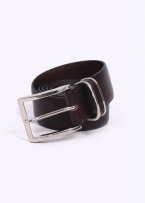 Hugo Boss Accessories / Boss Black - Froppin Leather Belt - Dark Brown