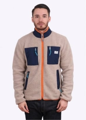Penfield Kenzai Zip Pile Fleece Jacket - Tan