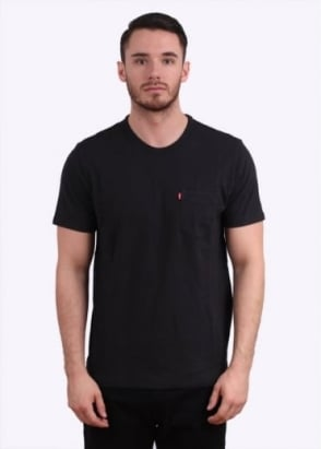 Levi's Red Tab Short Sleeve Sunset Pocket Tee - Jet Black