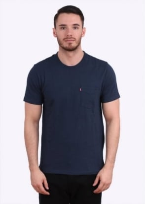 Levi's Red Tab Short Sleeve Sunset Pocket Tee - Dress Blue
