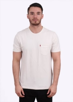 Levi's Red Tab Short Sleeve Sunset Tee - White Smoke