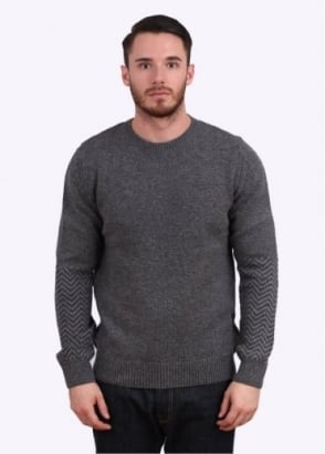 Barbour Melton Crew Jumper - Mid Grey