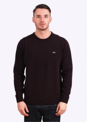 Lacoste Crew Knit Jumper - Bilberry Red