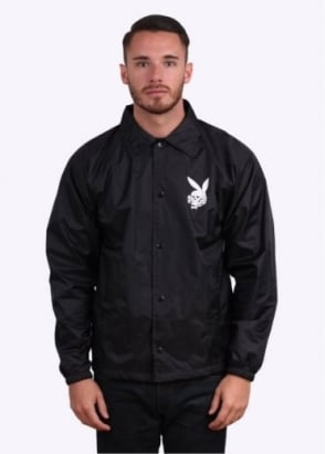 Fuct Death Bunny Coach Jacket - Black