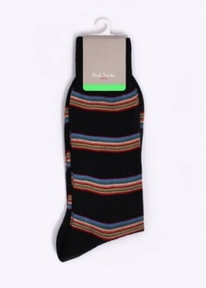 Paul Smith Multi Block Socks - Black / Multi