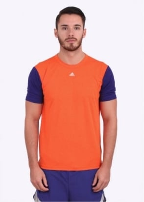 Adidas Originals Apparel x Kolor ClimaChill Running Tee - Grey / Orange / Purple