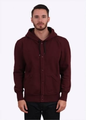 Paul Smith Button Up Hoodie - Maroon