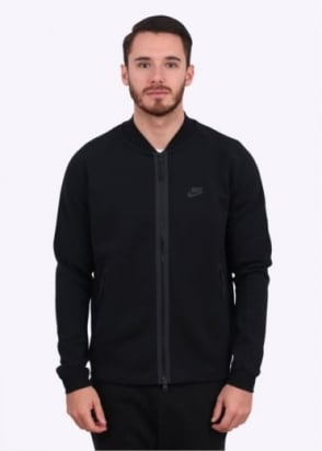 Nike Apparel Tech Varsity Jacket - Black