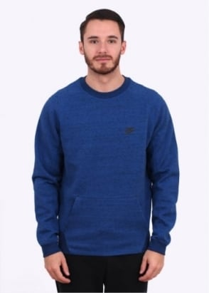 Nike Apparel Tech Fleece Crew - Game Blue
