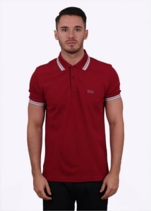 Hugo Boss Green Paddy Polo - Dark Red