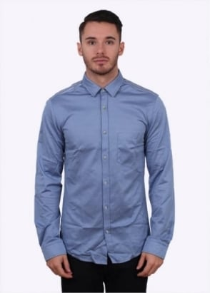 Hugo Boss Green Blane Shirt - Open Blue