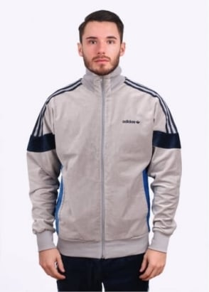 Adidas Originals Apparel CLR84 Challenger Track Top - Solid Grey / Navy Blue