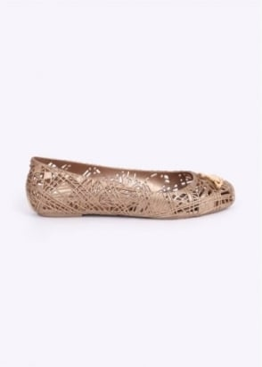 Vivienne Westwood Anglomania x Melissa Scribble Shoes - Gold