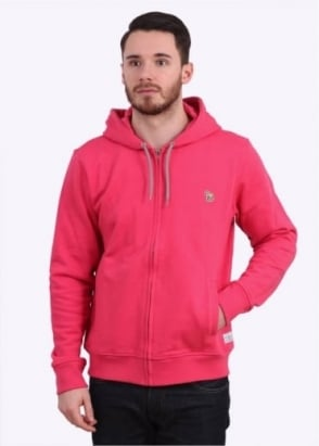 Paul Smith Zip Front Hoody - Pink