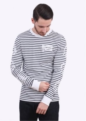 Billionaire Boys Club Stripey Long Sleeve Tee - Navy