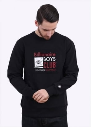 Billionaire Boys Club Processed Reversible Crew Sweatshirt - Black