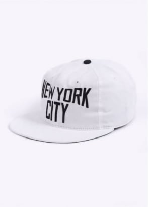 Ebbets Field Flannels New York City Lennon 6 Panel Cap - White