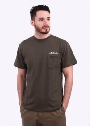 Manastash Hemp Pocket Short Sleeve Tee - Sage